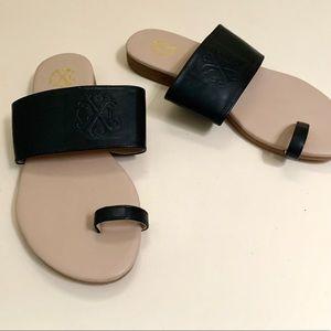 Christian Lacroix Black & Nude Sandals